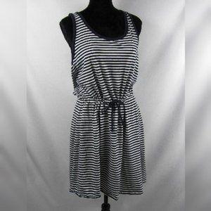 JOE FRESH Sleeveless Dress Blue White Stripe XL